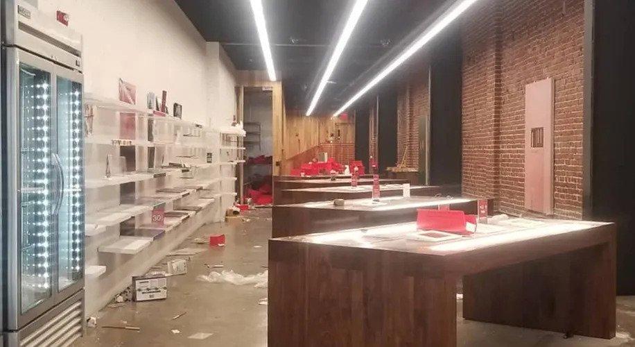 Cannabis Shop's werden geplündert